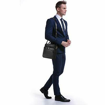Banuce Small Black Full Grains Messenger Bag for