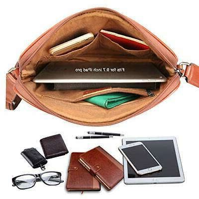 Banuce Small Full Italian Leather Messenger Bag