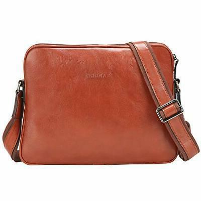 small full grains italian leather messenger bag