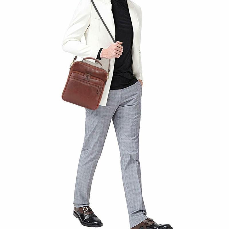 Banuce Small Messenger Bag for Men Vintage Full Grain Shou