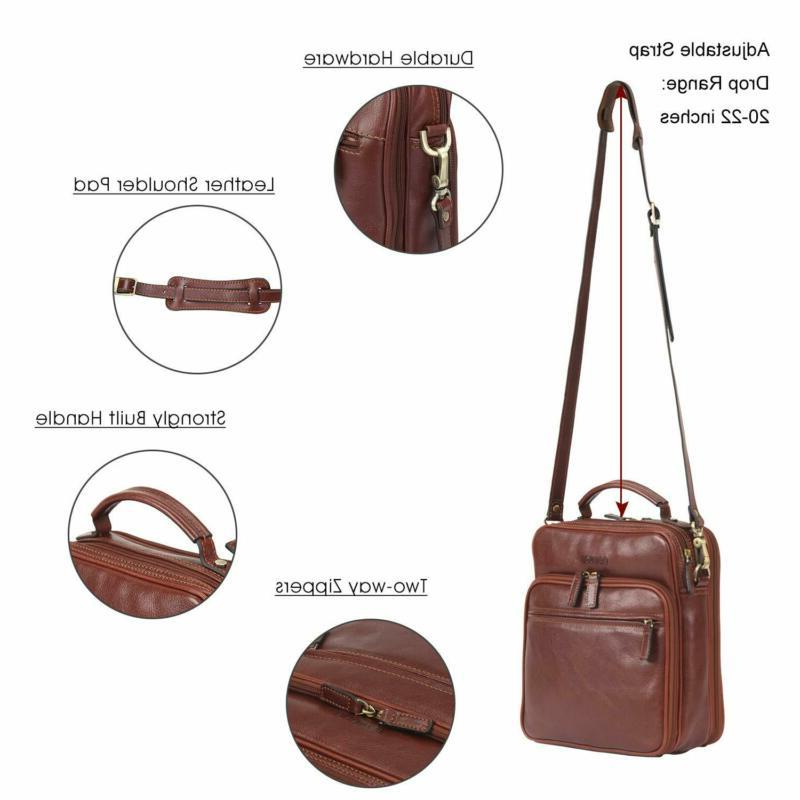 Banuce Messenger Bag for Women Vintage Full Leather Shou