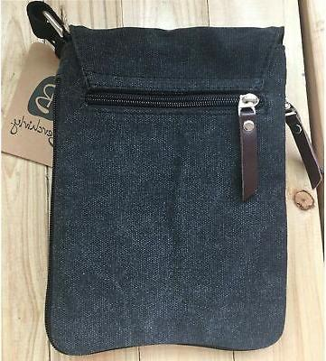 Berchirly Vintage Canvas+Leather Messenger