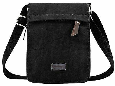 small vintage canvas leather messenger cross body