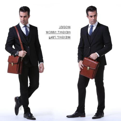Banuce Full Grain Italian Leather Messenger Bag