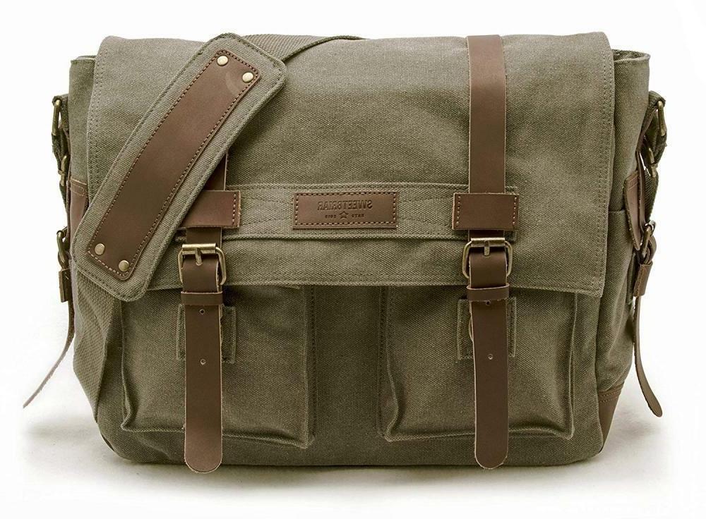 Sweetbriar Classic Laptop Messenger Bag Olive Drab - Canvas