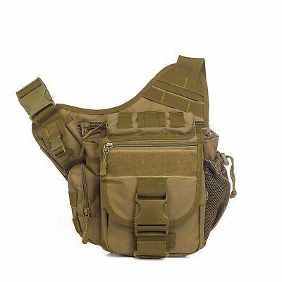 Mens Backpack Molle Tactical Messenger Bag Sling Chest Shoul