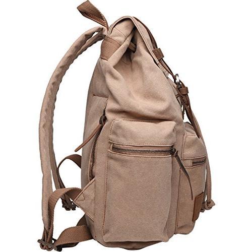 Berchirly Vintage Laptop Backpacks Rucksack Satchel Bag