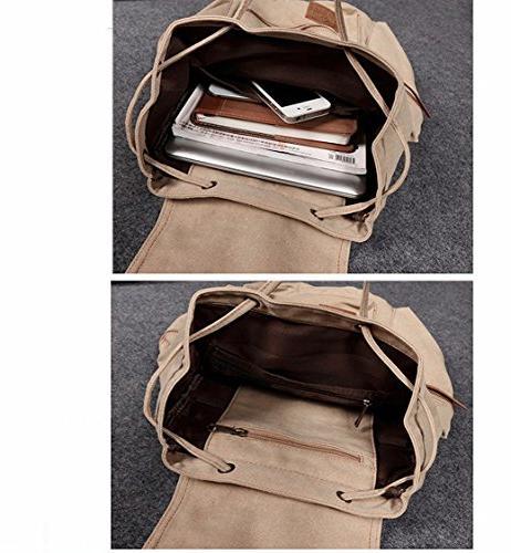 Berchirly Vintage Leather Laptop Backpacks Rucksack Satchel Bag