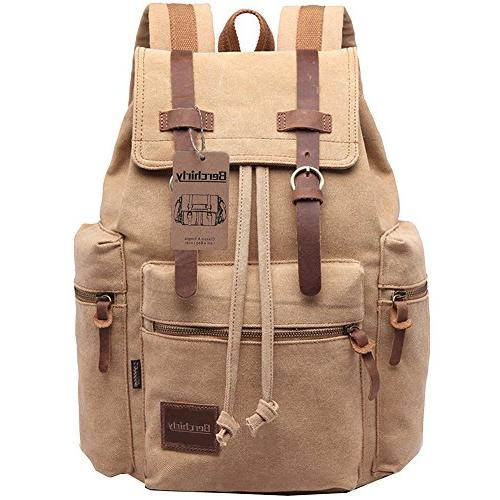thick canvas backpack school bag