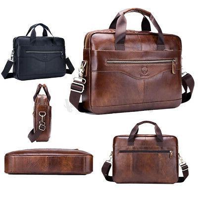 US Leather Messenger Shoulder Bag