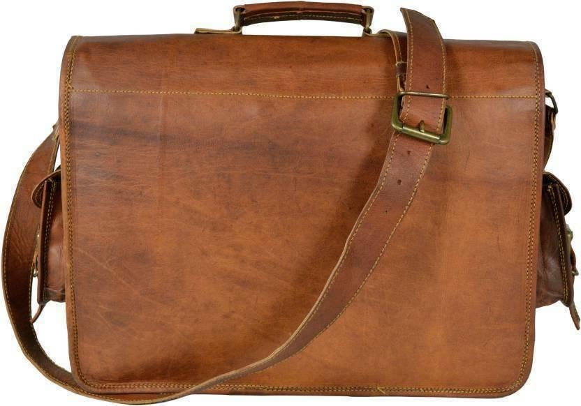 US Mens Leather Briefcase Laptop Handbag Business Bag