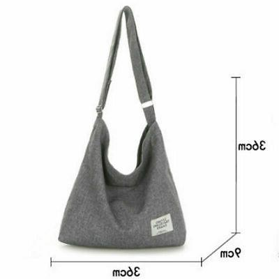 US Women Canvas Hobo Large Messenger Handbag