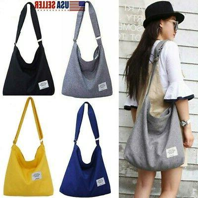 us women vintage canvas hobo bag large