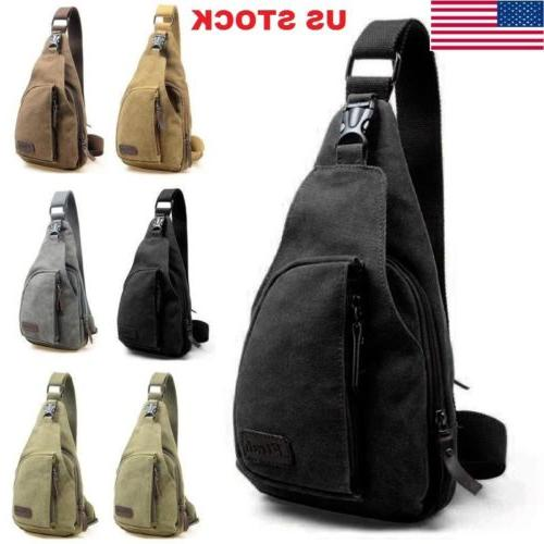 Men Boy Canvas Bag Pack Travel Outdoor Cross Body Messenger