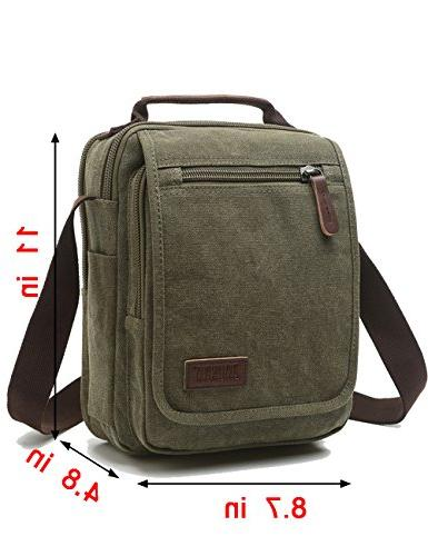 Vertical Mygreen Unisex Casual leather Shoulder Bag for Activities, Travel and School
