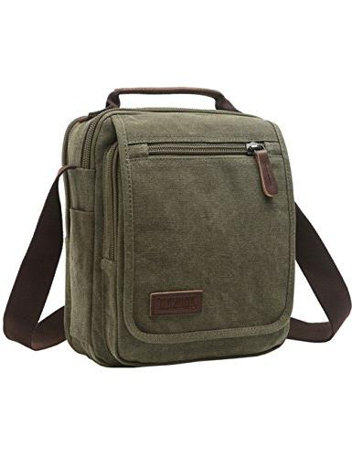 Vertical Bag, Mygreen Unisex leather Shoulder Bag Travel