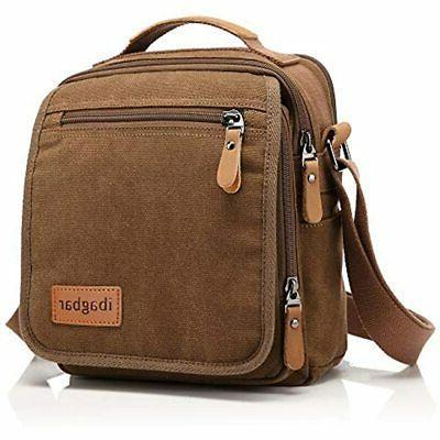 New Vintage Brown Canvas Bag Messenger Men Handbag Case Busi