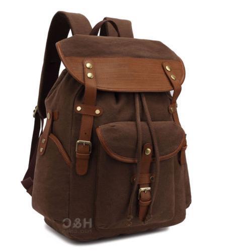 Vintage Backpack Men's Outdoor Laptop Shoulder Bag