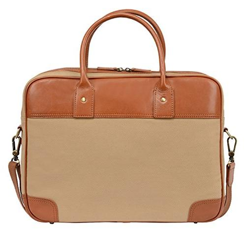 Banuce Laptop Bag Leather Business Tote Tablet Shoulder