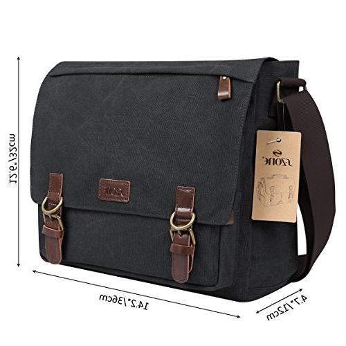 S-ZONE Vintage Bag Bag for 13.3-15inch Laptop Business Briefcase
