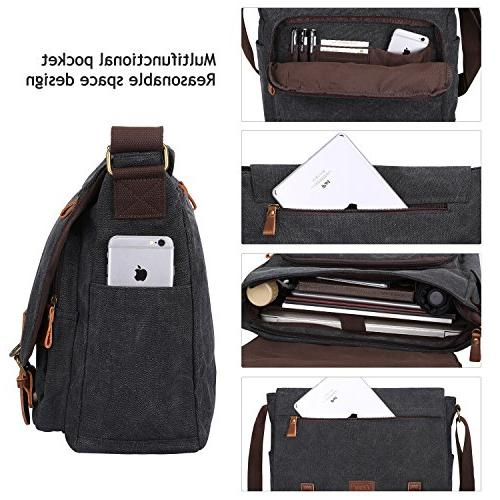 S-ZONE Canvas Messenger for Laptop Briefcase