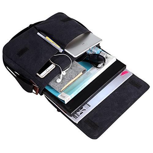 """Vintage Canvas Messenger Bag Men Shoulder 13.5"""" Laptop Bags"""