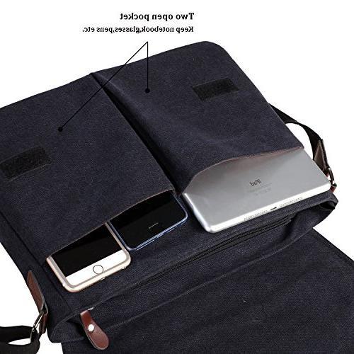 Vintage Messenger Bag for Men Women,Travel Shoulder Bags Bookbag