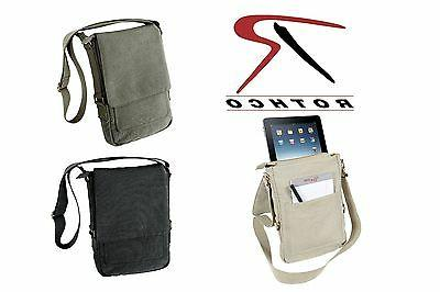 Vintage Canvas Tech Bag 5795 Tablet Messenger Bag Case Fits
