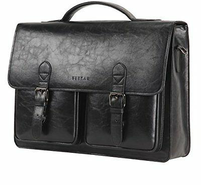 Banuce Vintage Faux Leather Tote Briefcase 13 inch Laptop Me