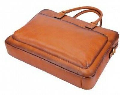 Banuce Vintage Leather Briefcase Tote Messenger