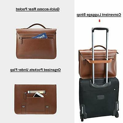 Banuce Messenger Bag Laptop Briefcase Brown