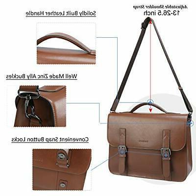 Banuce Messenger Bag Inch Laptop Briefcase Brown