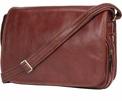 Banuce Vintage Genuine Leather Messenger Bag for Men Crossbo