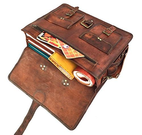 DHK 18 Vintage Handmade Messenger Computer Satchel Bag