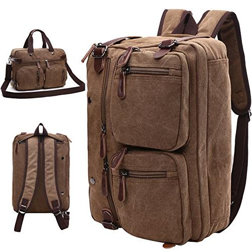 Mygreen Vintage Messenger Convertible Rucksack Up to Inch