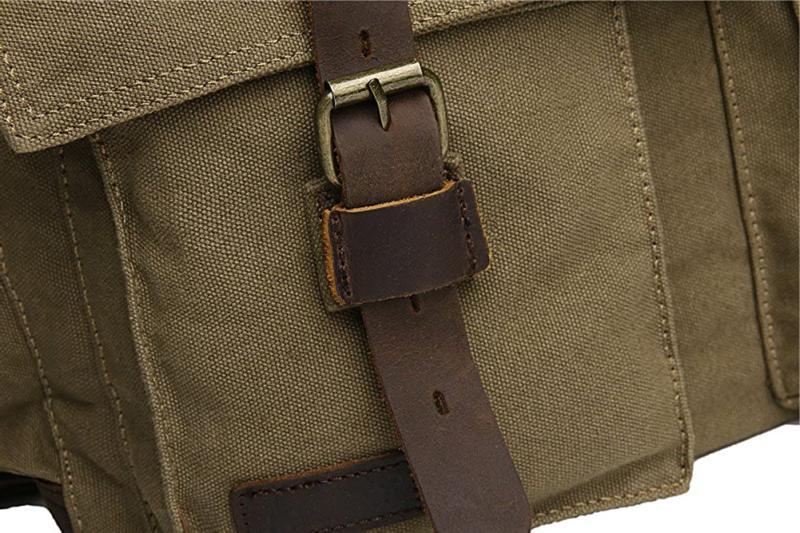 Sechunk Leather Laptop Messenger Medium