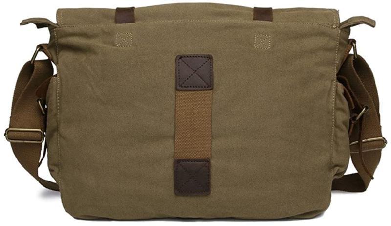 Sechunk Leather Laptop Bag Messenger Medium