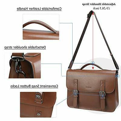 Banuce Vintage Bag Men Bags Satchel Laptop Bri...