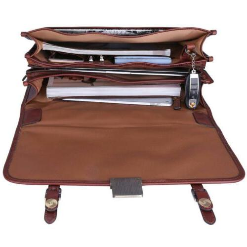 Banuce Vintage Briefcase Messenger Bag 14 inch Laptop Case