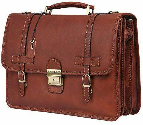 vintage leather tote briefcase messenger bag 14