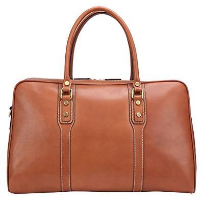 Banuce Vintage Full Grain Leather Travel Men Business Messenger
