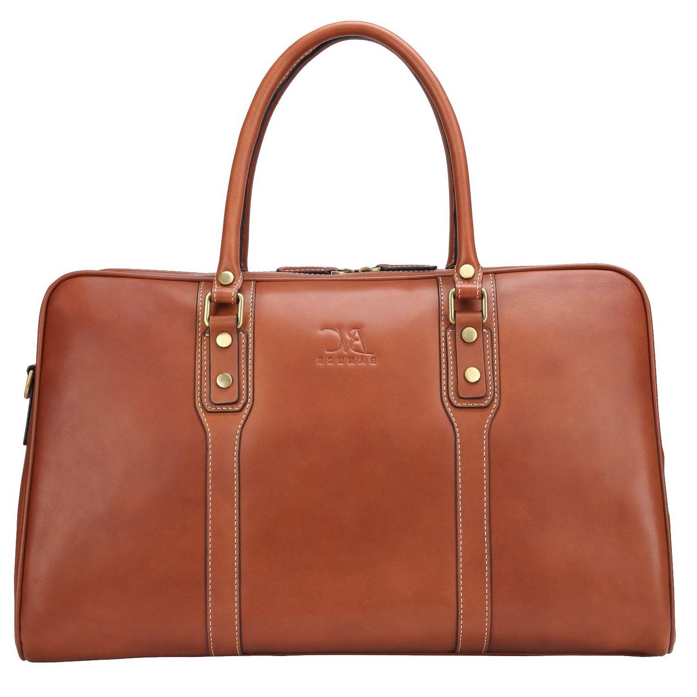 vintage leather travel tote bag for men