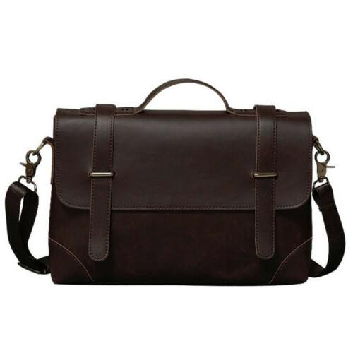 Men's Shoulder Messenger Bag Vintage Leather Crossbody Handb