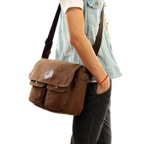 Men's Canvas Body Bag Bags School Satchel