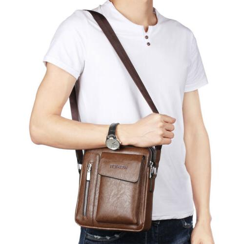 Men's Soft Leather Messenger Satchel Bags Cross Tote Handbag Shoulder