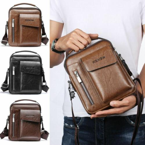 Vintage Men PU Casual Bag Tote Handbag Shoulder