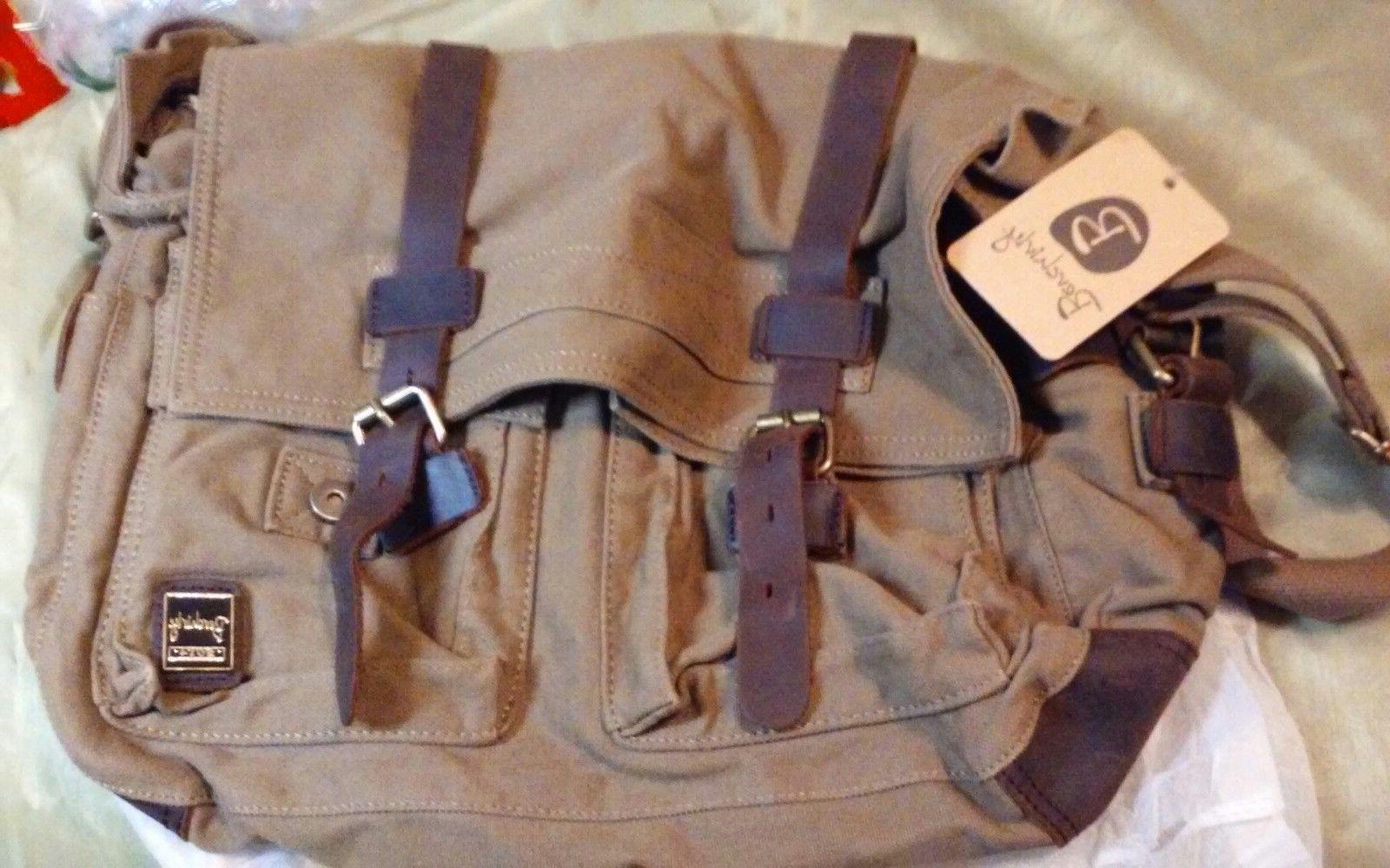 vintage military men canvas messenger bag