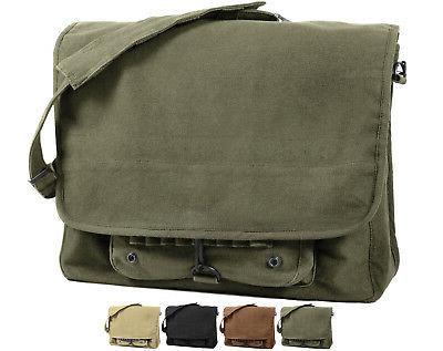 Vintage Military Messenger Shoulder Bag Paratrooper Laptop