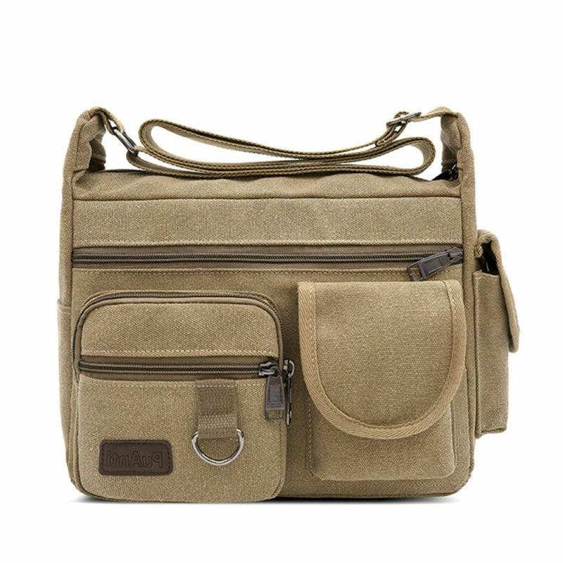 Vintage School Messenger Bag Men Satchel Military