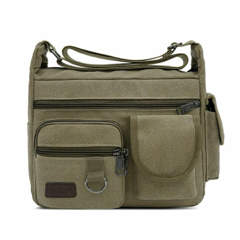 Vintage Shoulder Messenger Bag Military Crossbody Bags